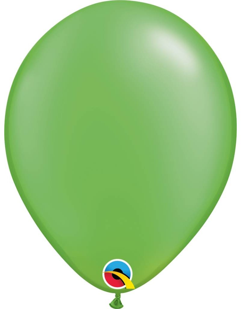 """11"""" Pearl Lime Green Latex Balloon (Without Helium)"""