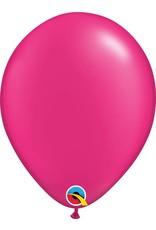 """11"""" Pearl Magenta Latex Balloon (Without Helium)"""