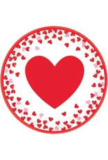 """Confetti Hearts 9"""" Round Plates  (8)"""