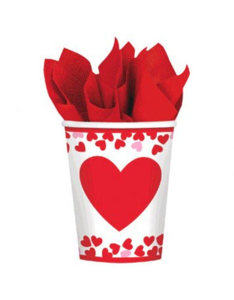Confetti Hearts Cups 9 oz. (8)