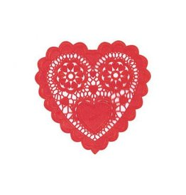 Medium Heart-Shaped Paper Doilies (20)