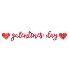 Galentine's Day Ribbon Letter Banner