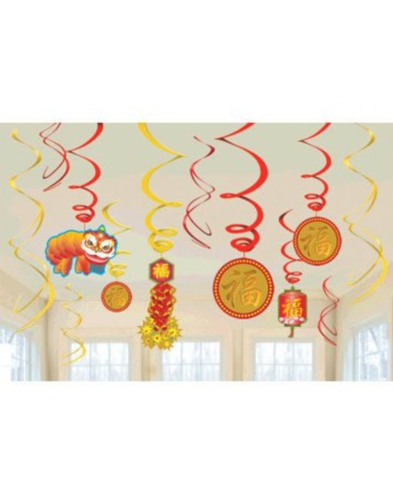 Chinese New Year Value Pack Foil Swirl (12)