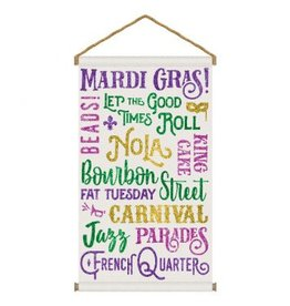Mardi Gras Large Hanging Sign