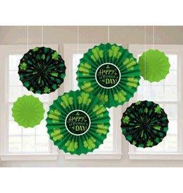 St. Patrick's Day Paper Fan Decorations (6)