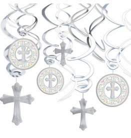 Communion Value Pack Foil Swirl Decorations