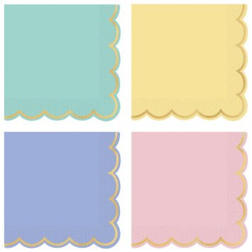 Spring Pastels Luncheon Napkins (16)
