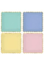 """Spring Pastels Scalloped Plates, 7"""" (8)"""