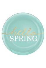 """Hello Spring 7 1/2"""" Coupe Plates (4)"""