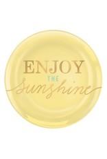 """Enjoy the Sunshine 7 1/2"""" Coupe Plates  (4)"""