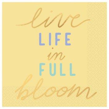 Live Life In Full Bloom Beverage Napkins (16)