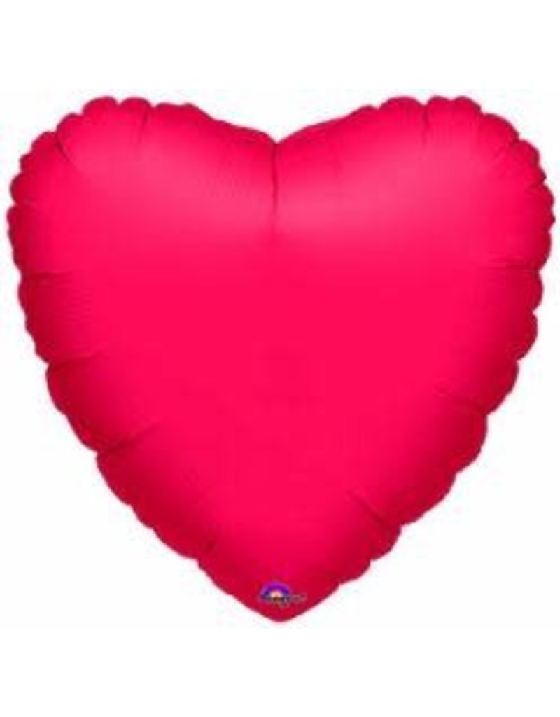 "Metallic Red Heart 18"" Mylar Balloon"