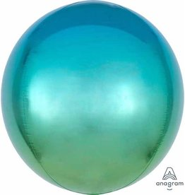 Ombre Orbz Blue & Green Mylar Balloon