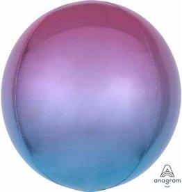 Ombre Orbz Purple & Blue Mylar Balloon