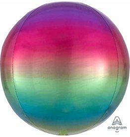Ombre Orbz Rainbow Mylar Balloon