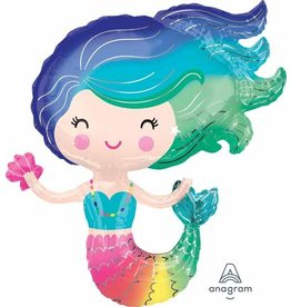 "Colourful Mermaid 30"" Mylar Balloon"