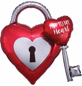 "Key To My Heart 32"" Mylar Balloon"