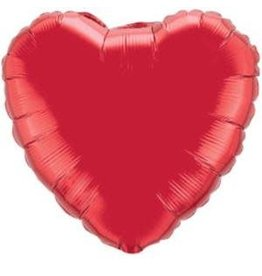 "Ruby Red Heart 36"" Mylar Balloon"