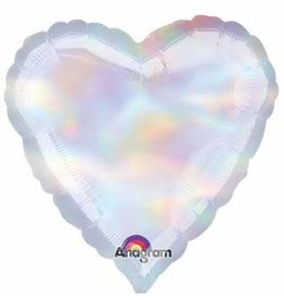 "Iridescent Heart 18"" Mylar Balloon"