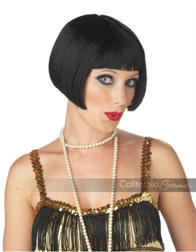 Flirty Flapper Black Wig