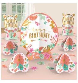 Boho Birthday Girl Table Centerpiece Decorating Kit