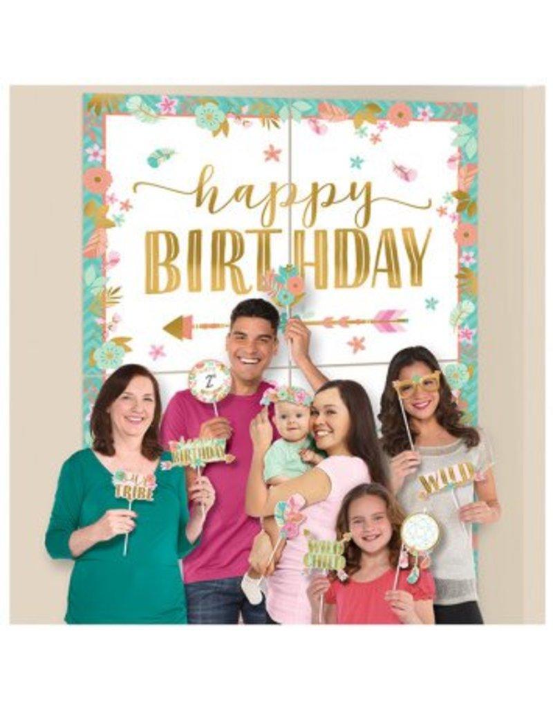 Boho Birthday Girl Scene Setters® w/ Props
