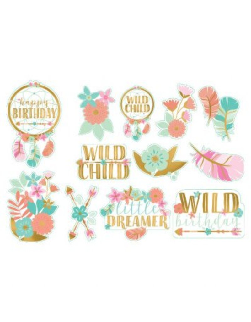 Boho Birthday Girl Value Pack Cutouts