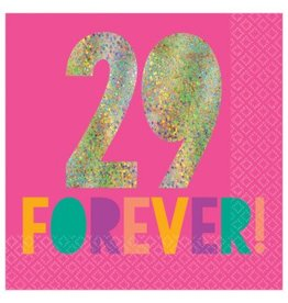 Young and Fab Hot-Stamped Beverage Napkins - 29 Forever (16)