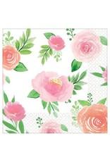 Floral Baby Beverage Napkins (16)