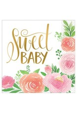 Floral Baby Luncheon Napkins (16)