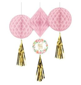 Floral Baby Honeycomb Decorations