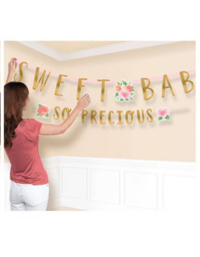 Floral Baby Jumbo Letter Banner Kit