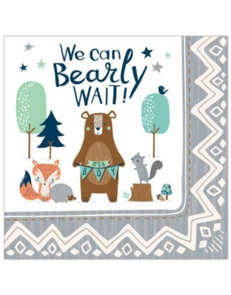 Bear-ly Wait Luncheon Napkins (16)