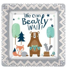 "Bear-ly Wait Square 10"" Plates (8)"