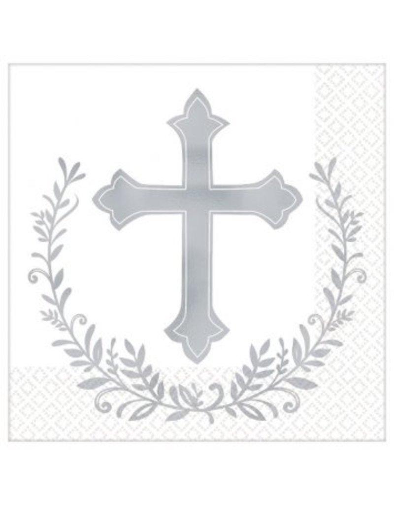 Cross Beverage Napkins - Hot-Stamped (16)