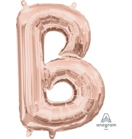 "Air-Filled Letter ""B""- Rose Gold 16"" Balloon (Will Not Float)"