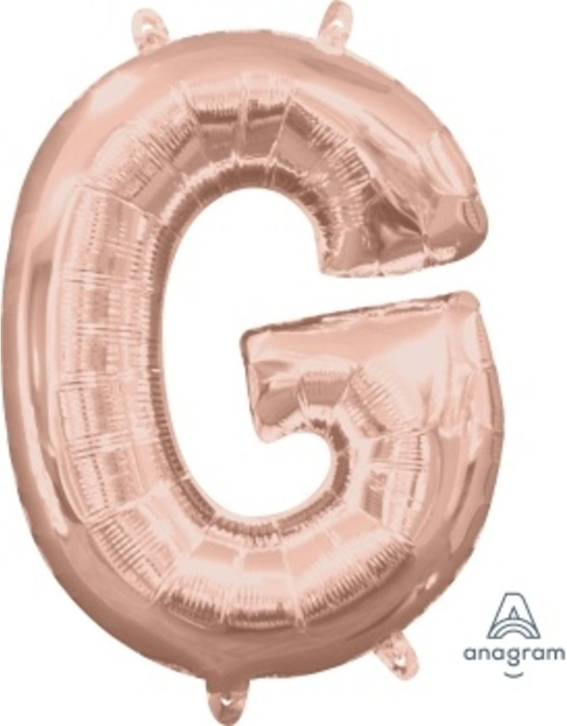 "Air-Filled Letter ""G""- Rose Gold 16"" Balloon (Will Not Float)"