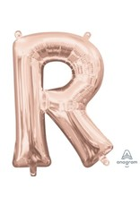 "Air-Filled Letter ""R""- Rose Gold 16"" Balloon (Will Not Float)"