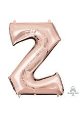 Rose Gold Letter Z Mylar Balloon