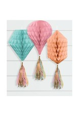 Mini Honeycombs w/ Tassels - Pastel Colours