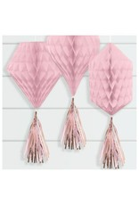 Mini Honeycombs w/ Tassels - Rose Gold/Blush