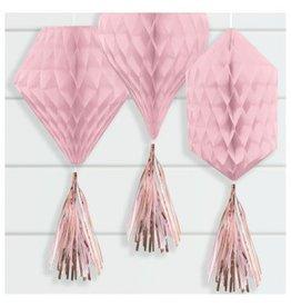 Mini Honeycombs w/ Tassels - Rose Gold/Blush