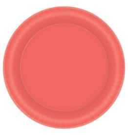 "Pantone™ Living Coral Paper 8 1/2"" Plates (20)"