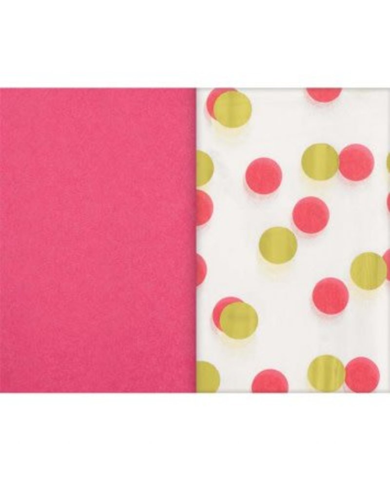 Pink & Gold Dots Hot-Stamped Tissue (8)