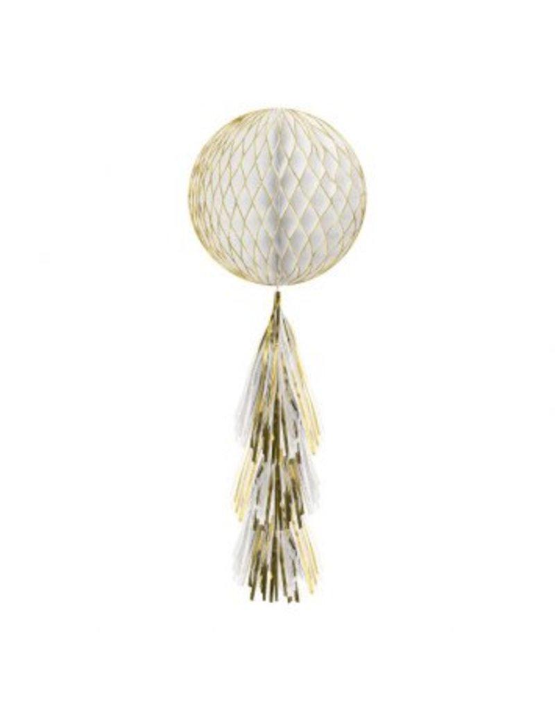 Gold Glitter Honeycomb Ball w/ Tail