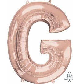 Rose Gold Letter G Mylar Balloon