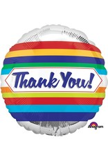 "Thank You Stripes 18"" Mylar Balloon"