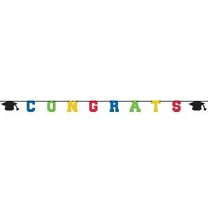 Glitter Congrats Graduation Letter Banner