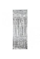 Silver Metallic Fringed Table Skirt
