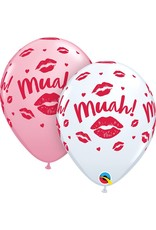 "11"" Kissy Lips Muah! Latex Balloon (Without Helium)"